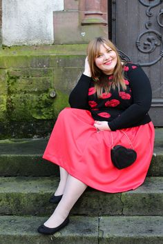 Love is in the Air {Valentinstags-Outfit #1} - plus size outfit idea for Valentine's Day