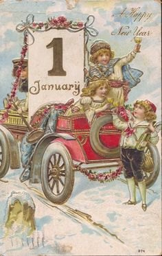 vintage everyday: Cute and Beautiful Vintage New Year's Postcards PUBLIC DOMAIN