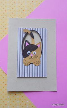 Scrap Maximo: Cartão - Gato na Janela
