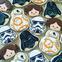 #starwars #starwarscookies #princessleia #darthvader #stormtrooper #bb8 #whitedarthvader #insidejoke #decoratedsugarcookies #decoratedcookies #sweettcakes #edibleart #workingmytailoff #blessed I'll post the cutters I used in the next post.