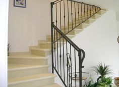 #Stairs in #marble silvia oro chiaro Interior Staircase, Mediterranean Style Homes, Spanish House, Granite, Marble, Stairs, Building, Stone, Home Decor