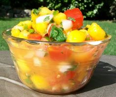 Bobbi's Kozy Kitchen - Sweet and Spicy Peach Salsa #appetizers #MexicanFood #healthy #dips