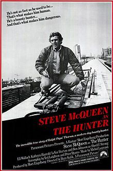 "The Hunter is a 1980 American thriller film directed by Buzz Kulik based on the exploits of real-life bounty hunter Ralph ""Papa"" Thorson. The film stars Steve McQueen in the lead role (his last film before his death), and features Eli Wallach, Kathryn Harrold, LeVar Burton, Ben Johnson and Richard Venture in supporting roles."
