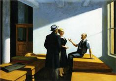 Conference At Night - Edward Hopper  c.1949