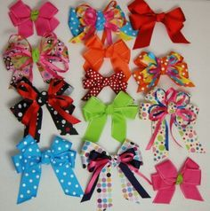 Homemade hair bows! I had dozens of these as a child- all made by Grandma!