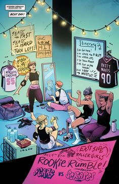 Slam! comic series: Go inside the world of roller derby Roller Derby Clothes, Roller Derby Skates, Roller Derby Girls, Roller Skating, Derby Names, Track Roller, Meet The Team, Animal Quotes, Funny Art