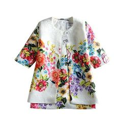 Платье и жакет для девочек с цветочным принтом Ссылка: http://ali.pub/5oeua