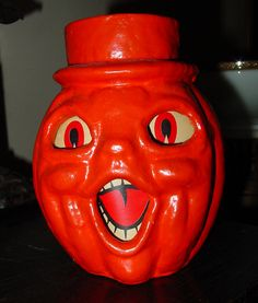 Rare Top Hat Choir Boy Jack O'Lantern | American Made,