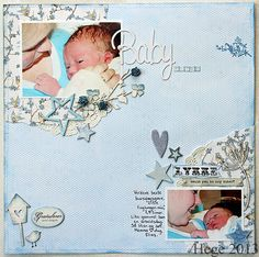 Hege/Tangent have made this soo cute page for her babypics using the lykke-collection