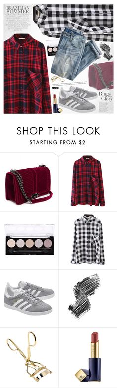 """Plaid shirts"" by vanjazivadinovic ❤ liked on Polyvore featuring Tiffany & Co., L.A. Colors, J.Crew, adidas Originals, Illamasqua, Estée Lauder, polyvoreeditorial and zaful"