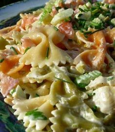 Recipe for Tuxedo Bow Tie Pasta Salad - The perfect pasta salad for picnics, potlucks and gatherings.