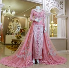 wedding dress kebaya modern pink 2016