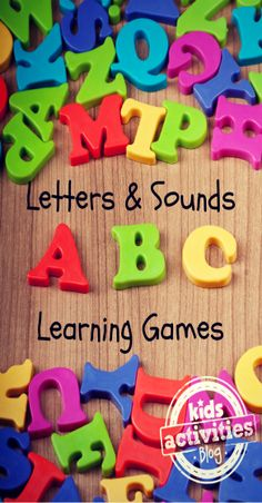 35 Letters and Sounds Learning Games. School is beginning soon, and these 35 letter and sounds learning games and activities will help you prepare your new student in fun ways. Teaching Letters, Preschool Letters, Alphabet Activities, Literacy Activities, Activities For Kids, Alphabet Letters, Teaching Letter Sounds, Letter Sound Activities, Educational Activities