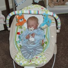 He got a new bouncy seat