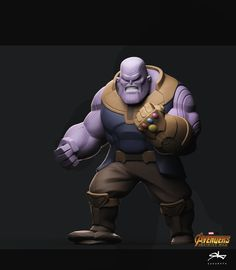 Thanos by Rattasat Pinnate Character Modeling, Game Character, Character Concept, Character Design, Chibi Characters, Marvel Characters, Disney Infinity Characters, Arte Peculiar, Avengers Cartoon