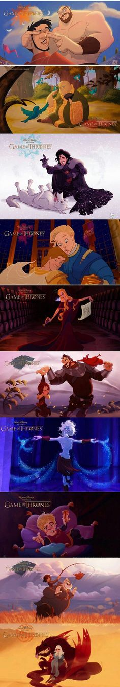 Disney's Game of Thrones (By Nandomendonssa) - 9GAG