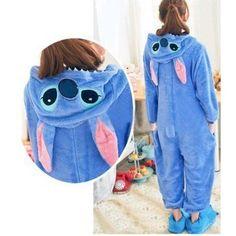 New Kigurumi Unisex Adult Cosplay Costume Pajamas Fancy Hoodie Animal Onesie S-L Stitch Disney, Lilo Y Stitch, Cute Stitch, Stitch Doll, Stitch Cartoon, Pyjamas, Onesie Pajamas, Couple Pajamas, Girl Clothing
