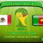 Prediksi Bola Meksiko Vs Kamerun 13 Juni 2014