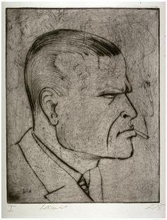 Otto Dix, Self-Portrait with Cigarette, 1922