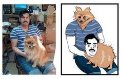 Han gör roliga karikatyrer av sina fans http://blish.se/8c155bcfbe #karikatyr #porträtt #humor