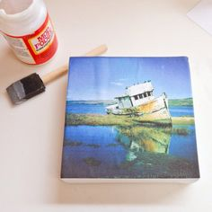 DIY - transfer picture to canvas
