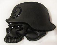 Skull & Helmet Motorcycle Style Belt Buckle