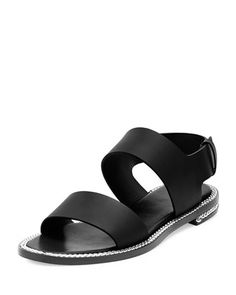 Chain-Wrapped+Two-Band+Sandal,+Black+by+Givenchy+at+Neiman+Marcus.