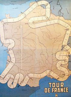 1950s Tour de France Racer's Map, $600