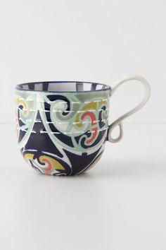 Kantha-Stitched Mug - Anthropologie.com