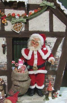 1/12th miniature dollhouse doll Santa Claus by Silke by xmasliesl
