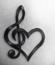 10 Most Beautiful Tattoo Designs for Lovely Women, Tattoo, Music heart tattoo. Music Tattoo Designs, Heart Tattoo Designs, Music Tattoos, Tattoo Designs For Women, Rose Tattoos, Tattoo Roses, Art Drawings Sketches Simple, Music Drawings, Musik Herz Tattoo