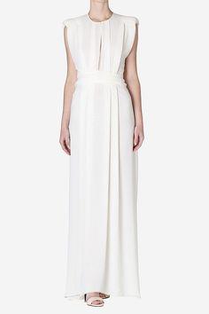 moonstone georgette gown   carla zampatti
