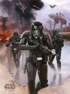 It's Droids, Death Troopers and Darth Vader in unseen Rogue One promo art | Blastr