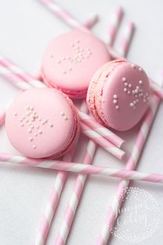 Pink Lemonade macarons (Like the wombats song)