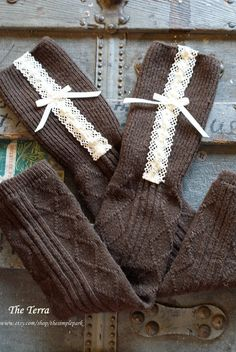 Lace+Legwarmers+Womens+Brown+Legwarmers+with+by+TheSimplePark,+$23.00
