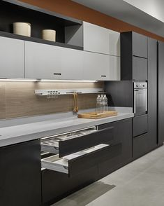 Trying to find luxury kitchen design motivation? Inspect out our top 63 favorite instances of seriously fashionable luxury kitchens and special. Kitchen Room Design, Luxury Kitchen Design, Contemporary Kitchen Design, Kitchen Cabinet Design, Kitchen Sets, Luxury Kitchens, Home Decor Kitchen, Kitchen Layout, Interior Design Kitchen