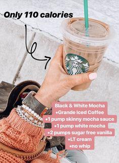I would go with reg chocolate next time! Otherwise, tasted like a zebra mocha! Starbucks Hacks, Healthy Starbucks Drinks, Starbucks Secret Menu Drinks, Starbucks Iced Coffee, Yummy Drinks, Coffee Drinks, Healthy Drinks, Coffee Coffee, Low Calorie Drinks