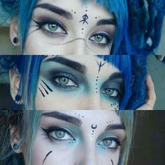 Best Inspiration Mate Makeup : So I've done quite a lot of different makeup looks in the past few weeks, bu… - Make Up Ideas Elf Make Up, Make Up Art, Cosplay Makeup, Costume Makeup, Maquillaje Halloween, Halloween Face Makeup, Witchy Makeup, Elven Makeup, Viking Makeup
