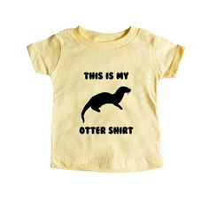This Is My Otter Shirt Otters Animal Animals Mammals Mammal Pun Puns Play On Words Funny SGAL9 Baby Onesie / Tee