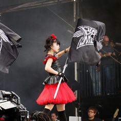 Babymetal at Leeds Festival at Bramham Park on August 30, 2015 in Leeds, England.