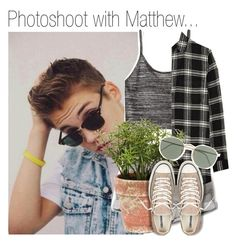 """""""Photoshoot with Matthew..."""" by nika-brel ❤ liked on Polyvore featuring H&M, Madewell, Converse, Ray-Ban, 477 and metthewespinosa"""
