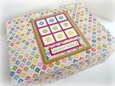 Lately, I have been obsessed with making boxes and filling them with stationery. I ordered a custom stamp for Sharon and made her her ver...