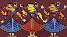 Untitled-Jamini  Roy Jamini Roy, Bengali Art, Kitsch Art, Art Painting Gallery, Creative Arts And Crafts, Madhubani Art, Indian Folk Art, Indian Art Paintings, India Art