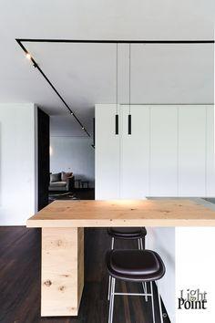 The Running Magnet by Flos Modern Lighting Design, Linear Lighting, Interior Lighting, Home Lighting, Ceiling Light Design, Ceiling Lights, Rail Plafond, Küchen Design, House Design