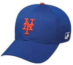 New York #Mets (Home - Royal Blue) ADULT Adjustable Hat MLB Officially Licensed Major League Baseball Replica Ball Cap  #baseball #mlb #teamsportsauthority