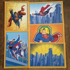 5 Superman Cards from 1999 Warner Bros Trivial Pursuit Game #Superman