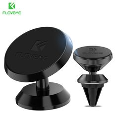FLOVEME Universal Car Holder 360 Degree Magnetic Car Phone Holder GPS Stand Air Vent Magnet Mount for iPhone 5s 7 6 8 X Soporte  Price: 4.04 USD