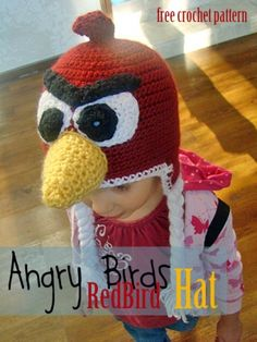 Angry Birds Hat - Red Bird