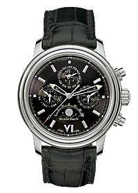 2585-1130-53 Blancpain швейцарские часы Leman Perpetual Calendar - мужские наручные часы - стальные, черные