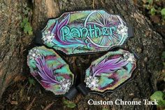 CUSTOM CHROME TACK Bronco Halter , Bling, Candy Rock Conchos